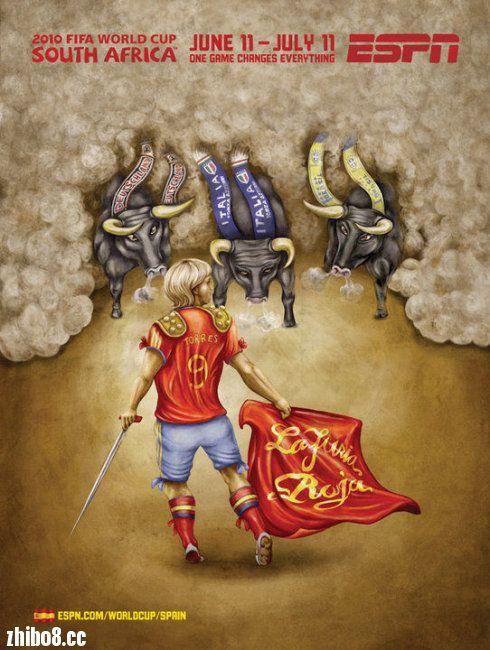 南非世界杯32强精彩手绘海报! - 天下足球 - 直播吧